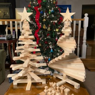 Wooden Christmas Tree - Large - 2 Trees - Cover